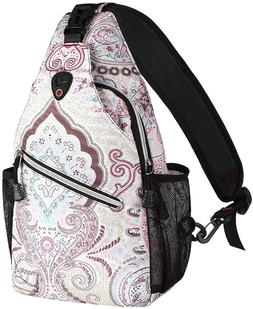 MOSISO 13 inch Sling Backpack, Hiking Daypack Pattern Outdoo