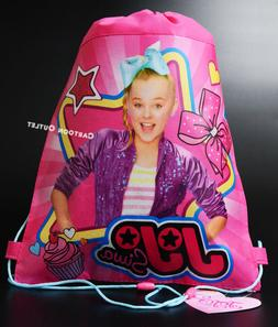 6 JOJO SIWA PINK PARTY FAVORS SLING BAG DRAWSTRING BACKPACK