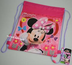 6 MINNIE MOUSE BACKPACK SLING BAG DRAWSTRING PARTY FAVORS LO