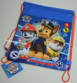 6 PAW PATROL SLING BAG DRAWSTRING  BACKPACK PARTY FAVORS LOT