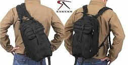 Black Rothco Convertible Medium Transport MOLLE Backpack & S