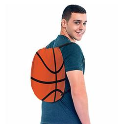 BASKETBALL DRAWSTRING SLING BACKPACK ~ Sports Birthday Party
