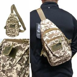 Camouflage Tactical Military Sling Crossbody Chest Bag Backp
