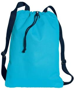 Port Authority Canvas Cinch Pack, Drawstring Bag,Travel Back