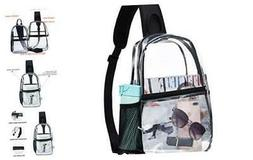 Clear Bag Backpack See through - Sling Stadium approved Pvc