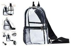 Clear Sling Bag Backpack See through stadium approved Pvc Vi