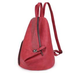 Dasein Fashion Women Faux Leather Casual Backpack w/ Sling S