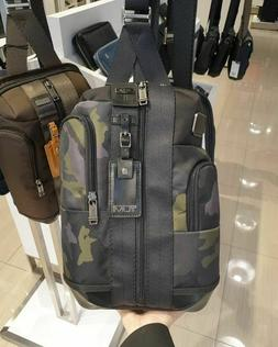 Tumi Higgins Sling Bag Crossbody Backpack Camouflage with Bl