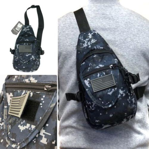camouflage tactical military sling crossbody side chest