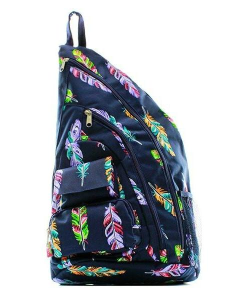 canvas one strap crossbody sling backpack free