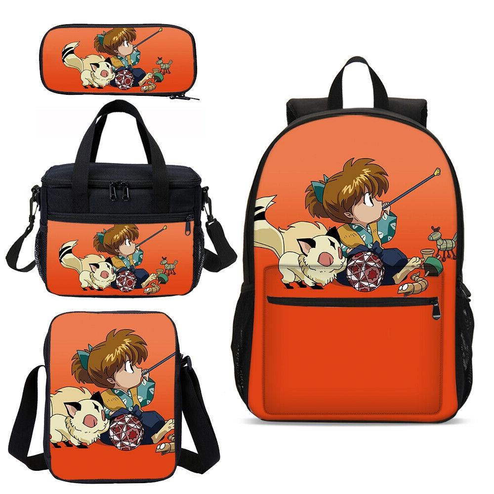 inuyasha kids school bags insulated lunchbox sling