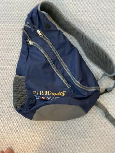 new cruise line castaway club sling backpack