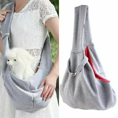 pet puppy dog cotton sling carry pack