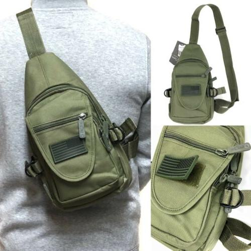 tactical military sling crossbody side chest bag