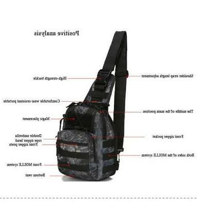 Tactical Sling Military Pack Rover Bag Molle Bike Hiking