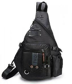 "Large Sling Bags Crossbody Backpack 14.1"" Chest Da Black For"