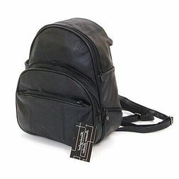 Leather Backpack Purse Mid Size & Convertible into single st
