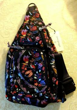 Vera Bradley Lighten Up Mini Sling Backpack in Foxwood Meado
