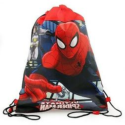 LOT 12 SPIDERMAN Kids Sling Bag Tote Backpack BIRTHDAY PARTY