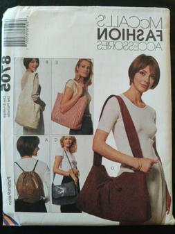 McCalls Fashion Accessories Sewing Pattern #8705 Carry On To