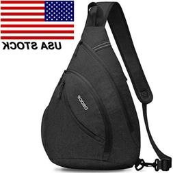 Men's Women's Large Sling Pack Chest Cycle Satchel Backpack