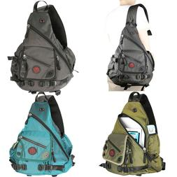 Men Women Large Laptop Sling Bag Backpack Rucksack School Tr