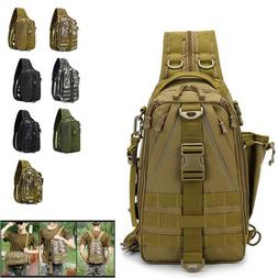 Mens Canvas Sling Bag Travel Hiking Crossbody Outdoor Lure F