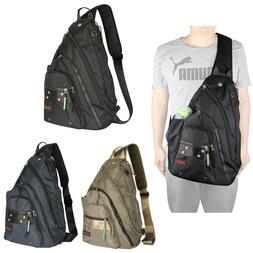 Mens Womens Laptop Large Sling Bag Backpack Chest Pack Schoo
