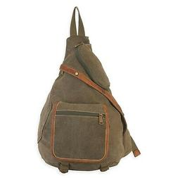 Cargo It Military Green Sling Side Backpack Work or School C