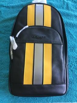 New authentic Coach f83270Men Houston sling pack with varsit