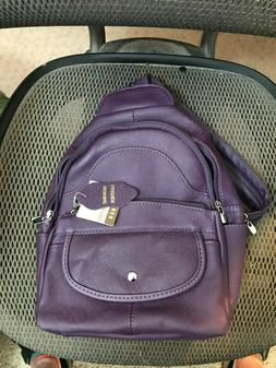 NEW! Roma Leathers BACKPACK or SLING - Genuine EMBOSSED Cowh