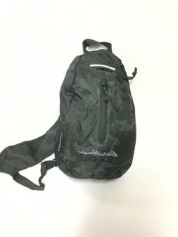 new green camouflage sling bag stowaway back