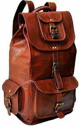 New Women's Real Vintage Leather Backpack Rucksack Travel Sh