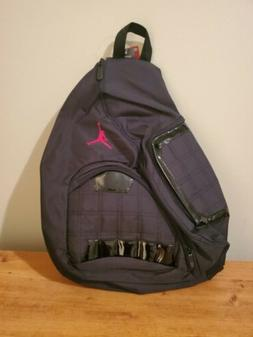 Nike Air Jordan Sling Backpack Laptop Storage. Black
