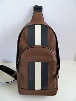 NWT Coach F49318 Men Houston Sling Pack Backpack with Varsit