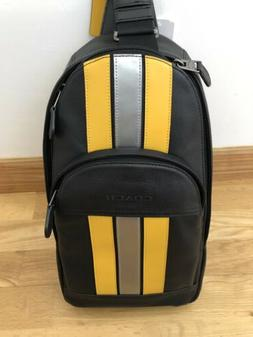 NWT Coach F83270 Men Houston Sling Pack Backpack with Varsit