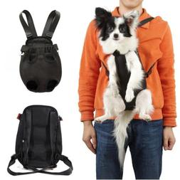 Pet Dog Carrier Bag Shoulder/Sling/Net Backpack Legs Out Fro
