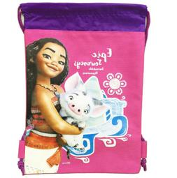Pink Moana Drawstring Backpack Disney Authentic Sling Tote S