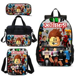 Roblox Characters Kids Boys School Backpack Sling Bag Lunch