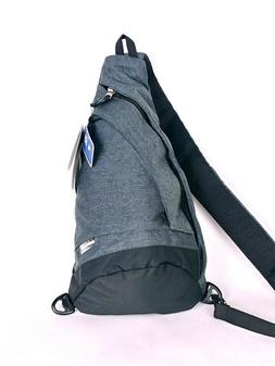 Swiss Gear Mono Sling black heather gray Crossbody Bag Backp