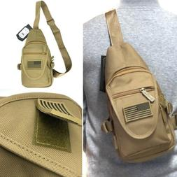 Tactical Military Sling Crossbody Chest Bag Backpack Hiking