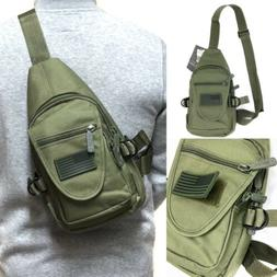Tactical Military Style Sling Crossbody Side Chest Bag Hikin