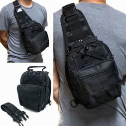 Tactical Military Sling Crossbody Side Chest Bag Backpack Hi