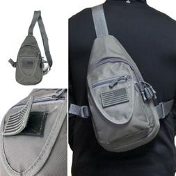Tactical Military Style Sling Crossbody Side Chest Bag Backp