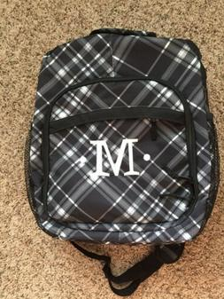 Thirty One 31 Sling Backpack Organizer Black Grey Plaid.