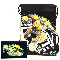 Transformers Bumble Bee Drawstring Backpack Sling Tote Sport
