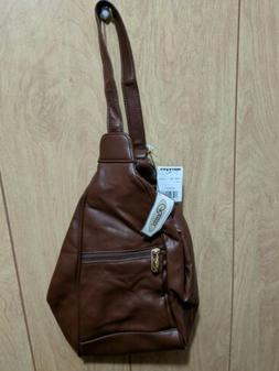 Vintage New Old Stock Rosetti Brown Faux Leather Backpack Sl