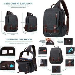 Wowbox Sling Bag For Men Women Sling Backpack Laptop Shoulde